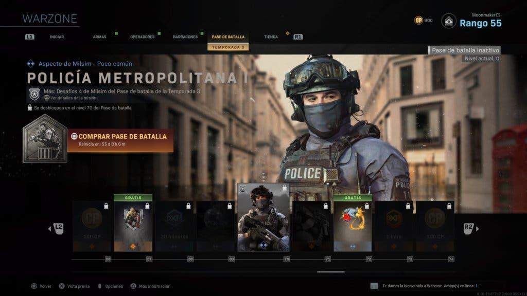 Policía Metropolitana - Warzone