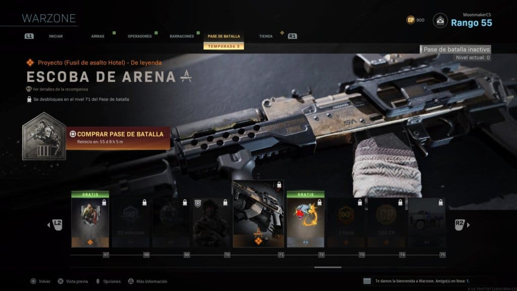 Escoba de Arena - Warzone