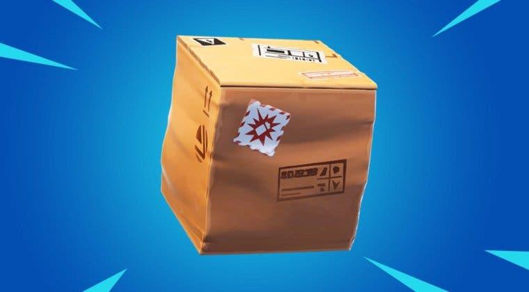 Imagen de Desafío de Fortnite: escóndete en una caja de cartón en la fábrica de cajas