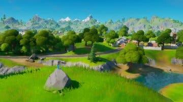 Imagen de Fortnite: Busca la espada de Skye clavada en piedra que se encuentra en un lugar elevado (solución)