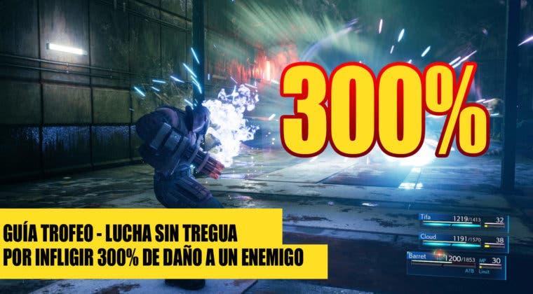 """Imagen de Consigue el Trofeo """"Lucha sin tregua"""" por hacer 300% de daño en Final Fantasy VII: Remake"""
