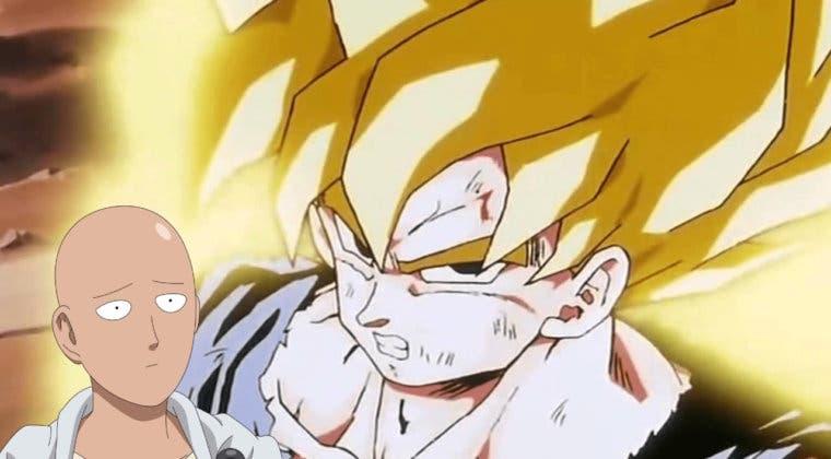 Imagen de Goku (Dragon Ball) contra Saitama (One Punch Man); la increíble animación fan