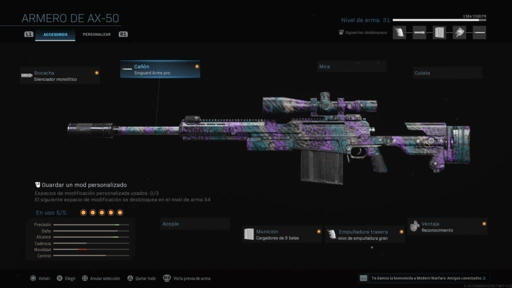 Clase AX-50 Modern Warfare y Warzone 1