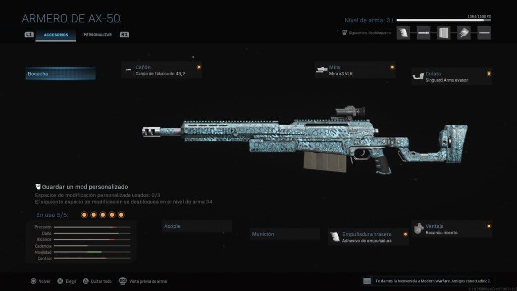 Clase AX-50 Modern Warfare y Warzone
