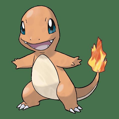 Charmander Pokémon inicial
