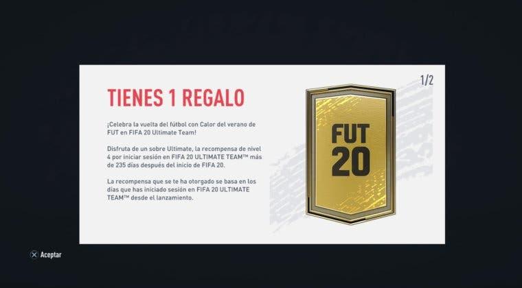 Imagen de FIFA 20: asegúrate de iniciar sesión en Ultimate Team para conseguir sobres gratuitos