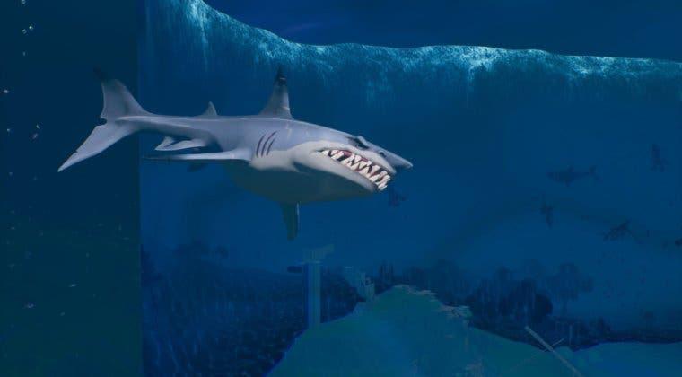 Imagen de Desafío de Fortnite: Inflige daño a tiburones de botín en Arenas Ardientes