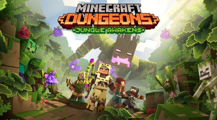 Imagen de Jungle Awakens, el primer DLC de Minecraft Dungeons, celebra su llegada con un tráiler