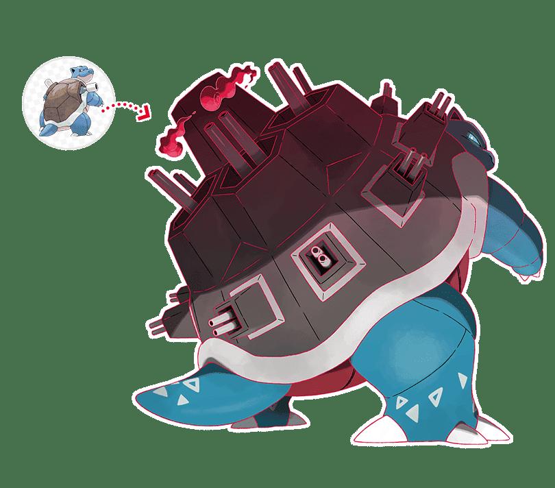 Pokémon Espada y Escudo Blastoise Gigamax arte