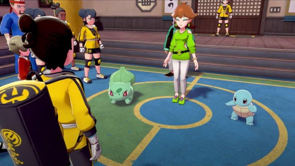 Pokémon Espada y Escudo Bulbasaur y Squirtle