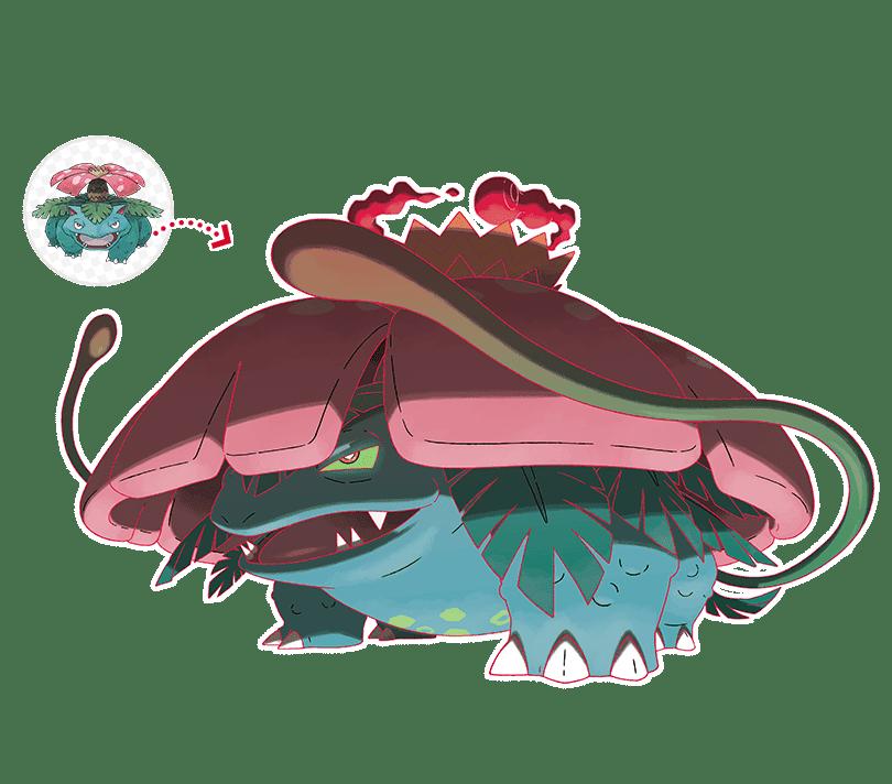 Pokémon Espada y Escudo Venusaur Gigamax arte