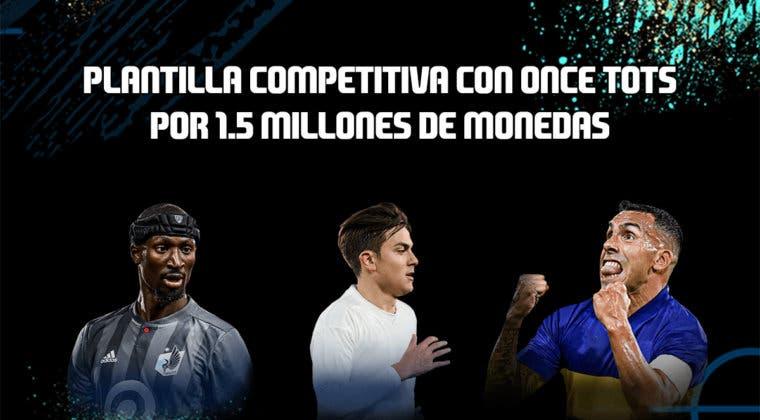 Imagen de FIFA 20: equipo competitivo con once TOTS por 1.500.000 monedas para jugar FUT Champions