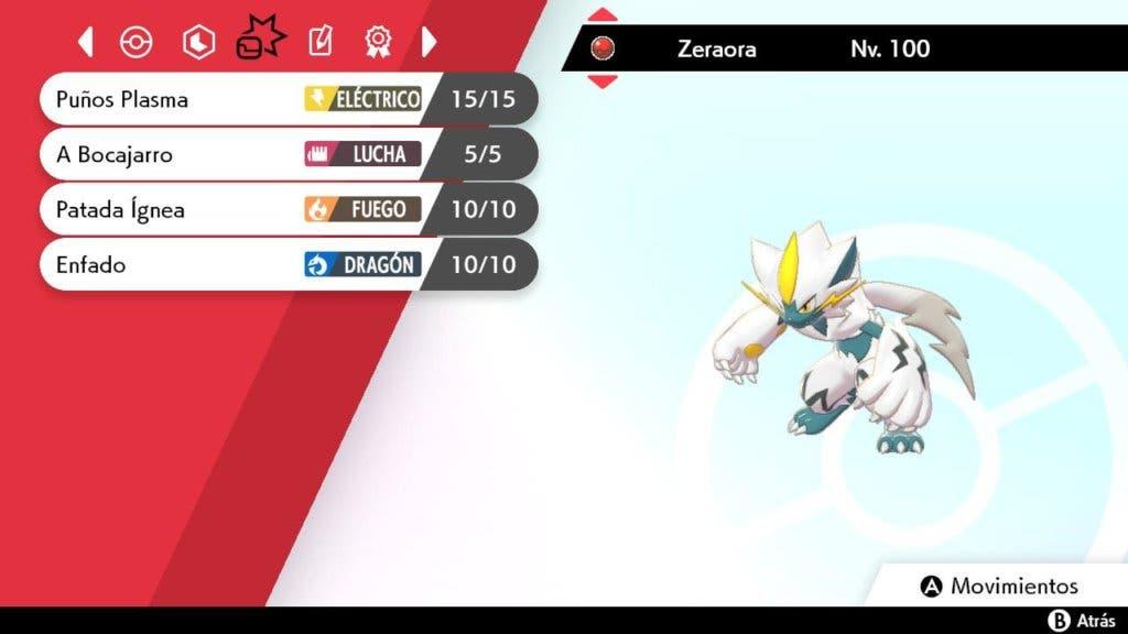 Zeraora shiny Pokémon Espada y Escudo