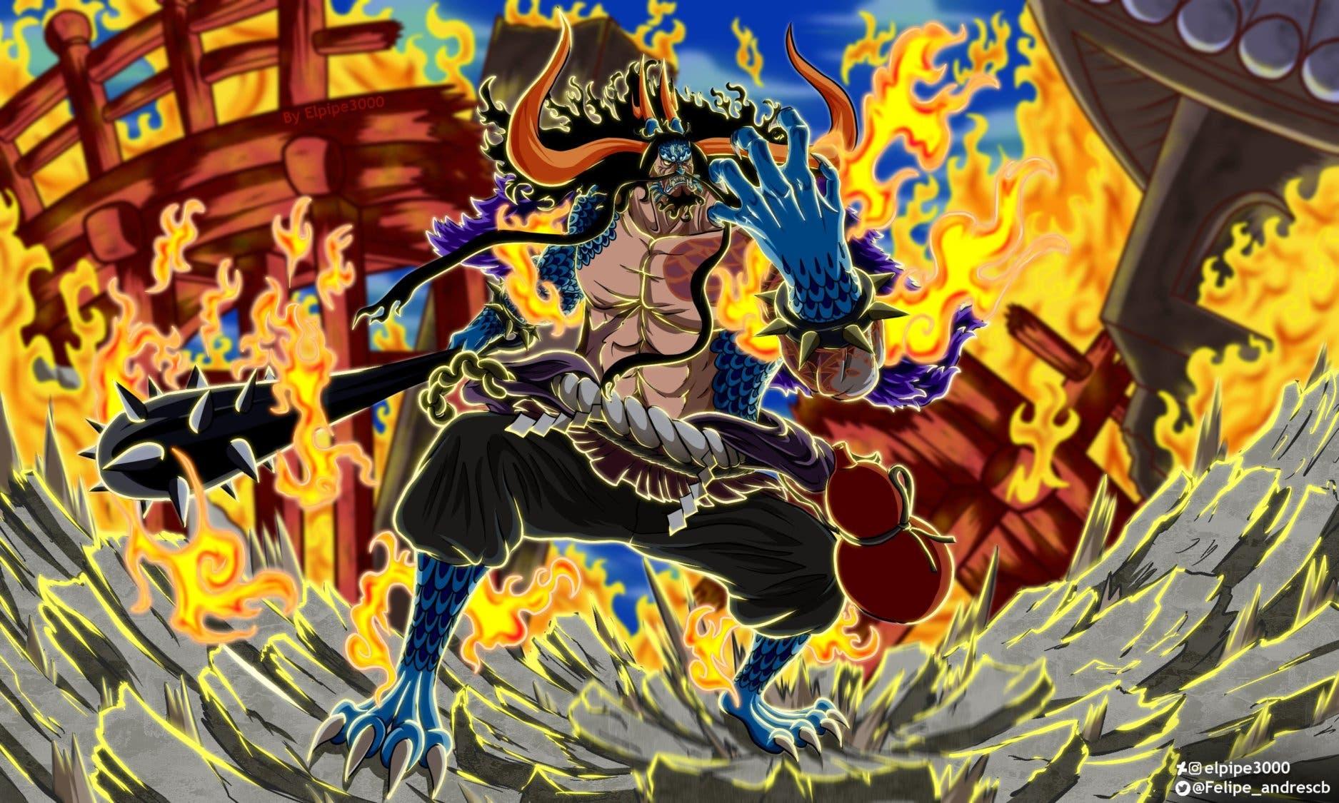 Este es el increíble fanart de One Piece de la forma ...
