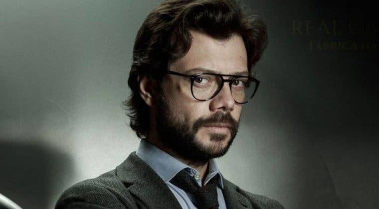 Imagen de El Profesor vuelve a La casa de papel en el rodaje de la temporada 5