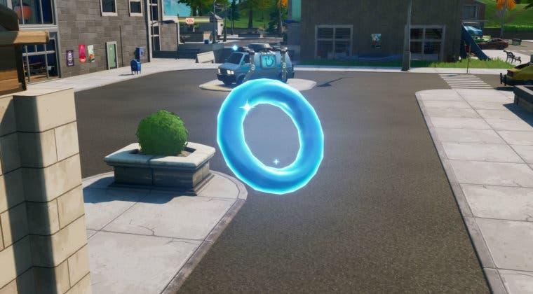 Imagen de Fortnite: Reúne círculos flotantes en el Parque Placentero