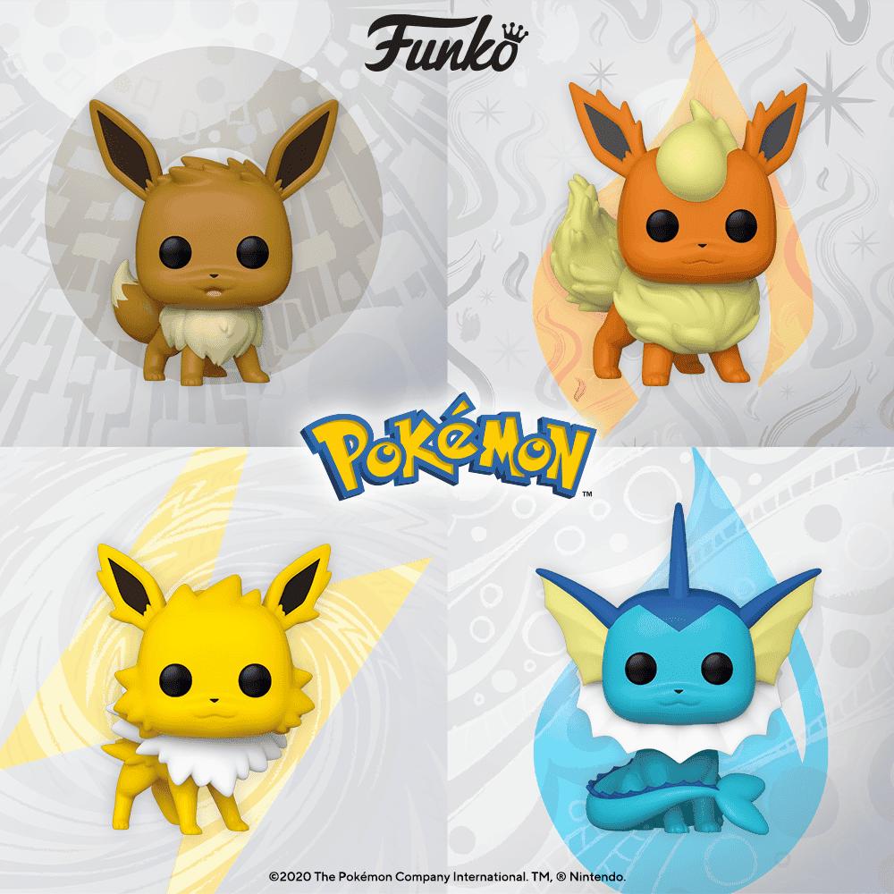 Funko POP de Pokémon Eevee Flareon Jolteon Vaporeon