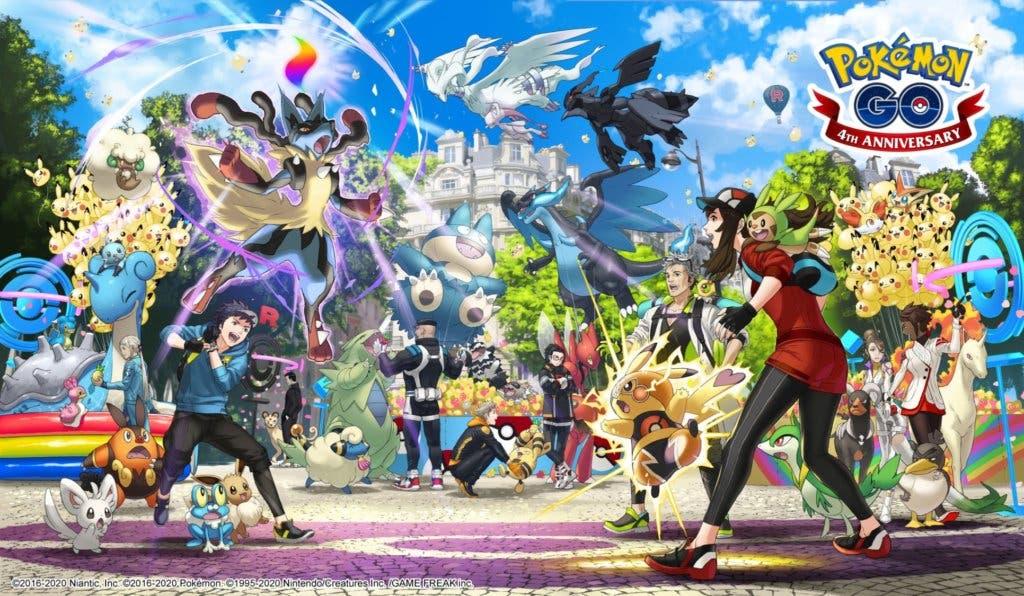 Pokémon GO cuarto aniversario