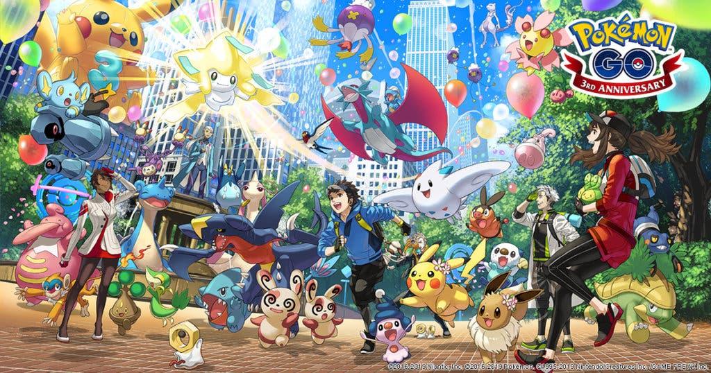Pokémon GO tercer aniversario