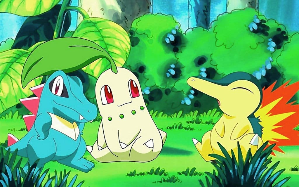 Pokémon inicial Chikorita Cyndaquil Totodile
