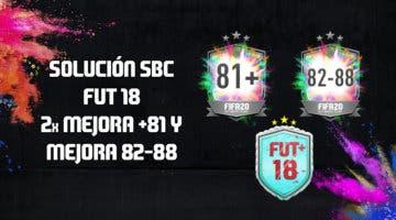 Imagen de FIFA 20: solución a los SBC's 'FUT 18', 'Doble mejora +81' y 'Mejora 82-88'