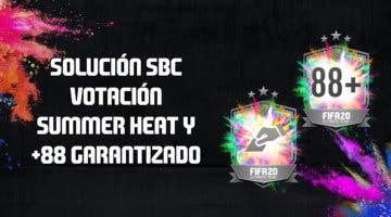 Imagen de FIFA 20: solución a los SBC's 'Votación Summer Heat' y '+88 garantizado'