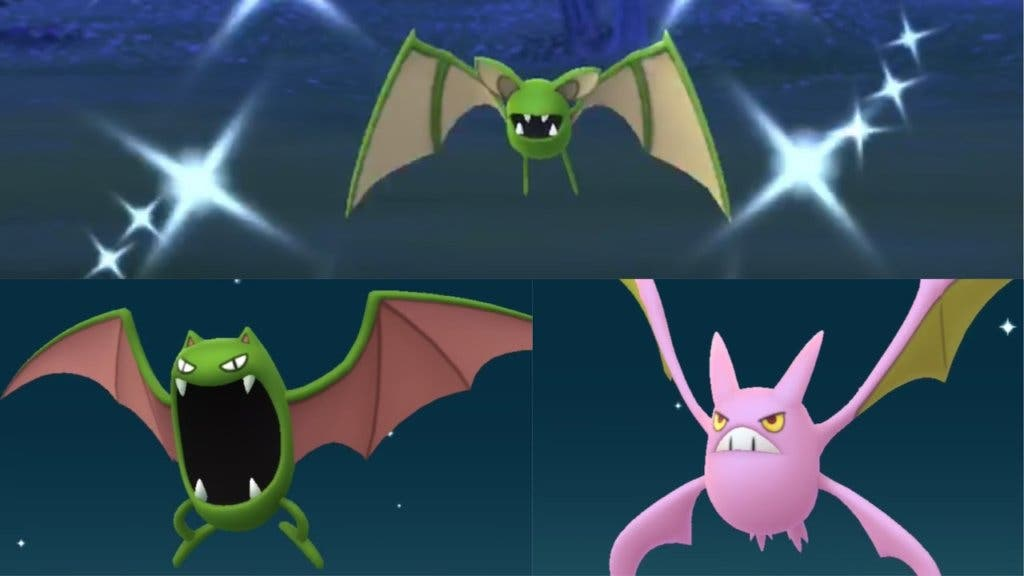 Zubat Golbat Crobat shiny Pokémon GO