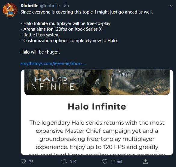 El multijugador de Halo Infinite será gratis y tendrá Pase de Batalla, según un insider