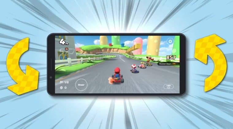 Imagen de Mario Kart Tour ya puede jugarse con la pantalla en horizontal