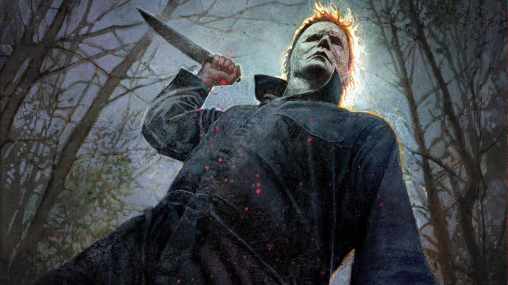 michael myers is read to kill in this comic con poster for halloween social