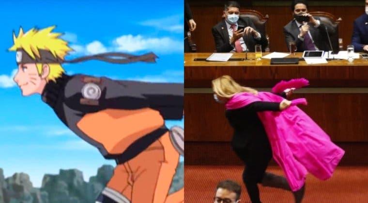 Imagen de Una diputada chilena hace el 'Naruto Run' en pleno congreso