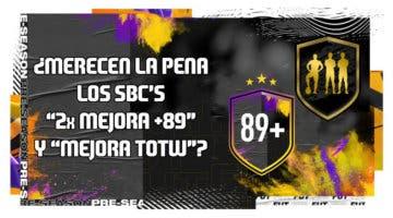 """Imagen de FIFA 20: ¿Merecen la pena los SBC's """"Doble mejora +89"""" y """"Mejora TOTW""""?"""