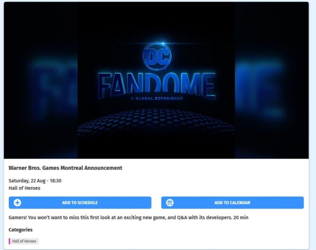 Batman: Gotham Knights - Fecha y hora de la posible presentación en DC Fandome