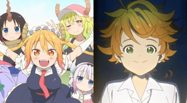 Imagen de The Promised Neverland y Miss Kobayashi's Dragon Maid lucen imágenes de su temporada 2
