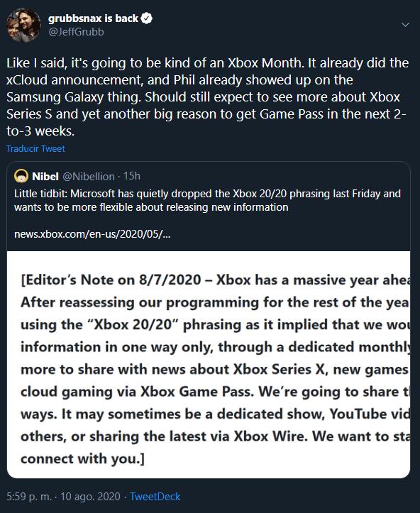 """""""Veréis otra gran razón para tener Xbox Game Pass en 2 o 3 semanas"""""""