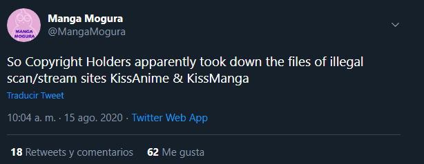 Cierran KissAnime y KissManga, dos de las principales webs pirata de anime y manga