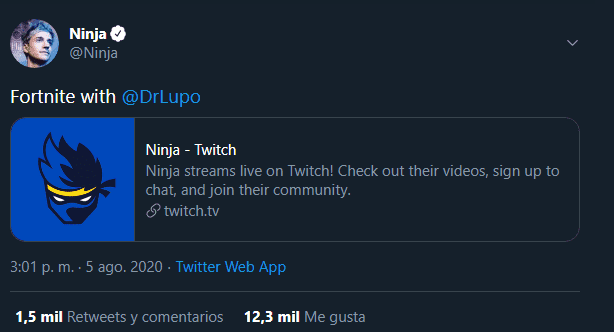 Ninja vuelve a stremear en Twitch un año más tarde