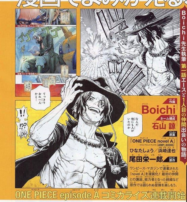 Así es el manga de Ace (One Piece) por el autor de Dr. Stone