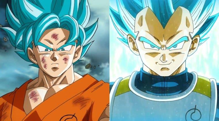 Imagen de Así son Goku y Vegeta con el Super Saiyan Blue en DBZ: Kakarot
