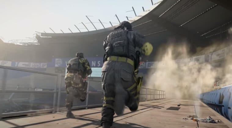 Imagen de Warzone: Acceden a la sala superior del estadio y aparecen referencias a Black Ops