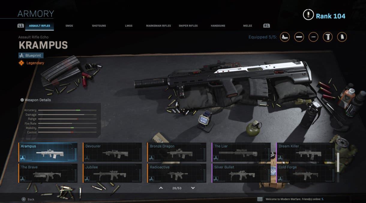 Estas son las 10 armas más jugadas de Warzone (27-08 a 03-09)