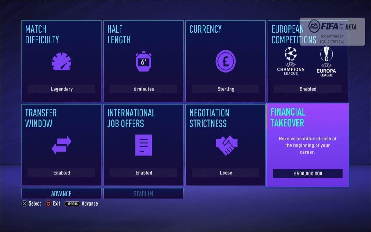 Modo Carrera FIFA 21