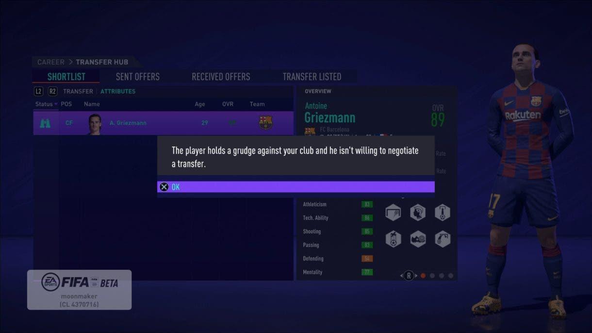 Griezmann Modo Carrera FIFA 21