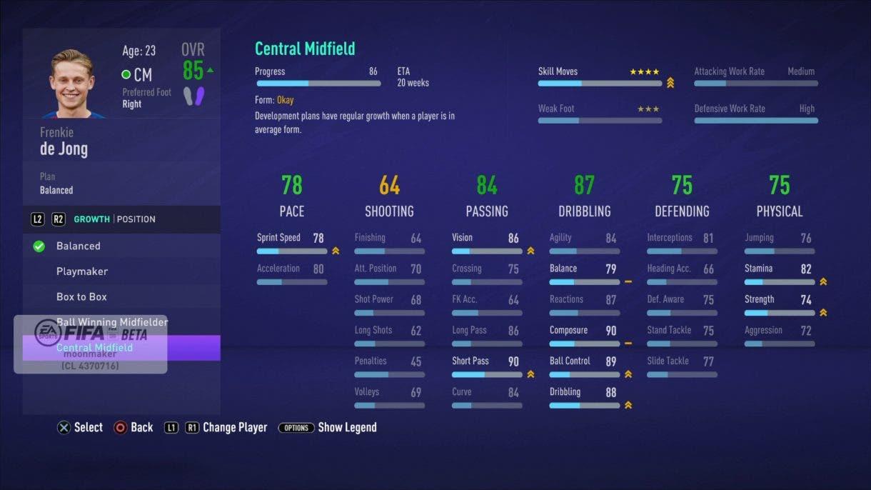 De Jong FIFA 21 Modo Carrera