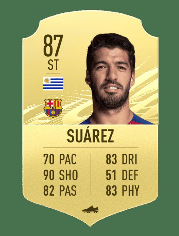 Carta de Suárez en FIFA 21 Ultimate Team