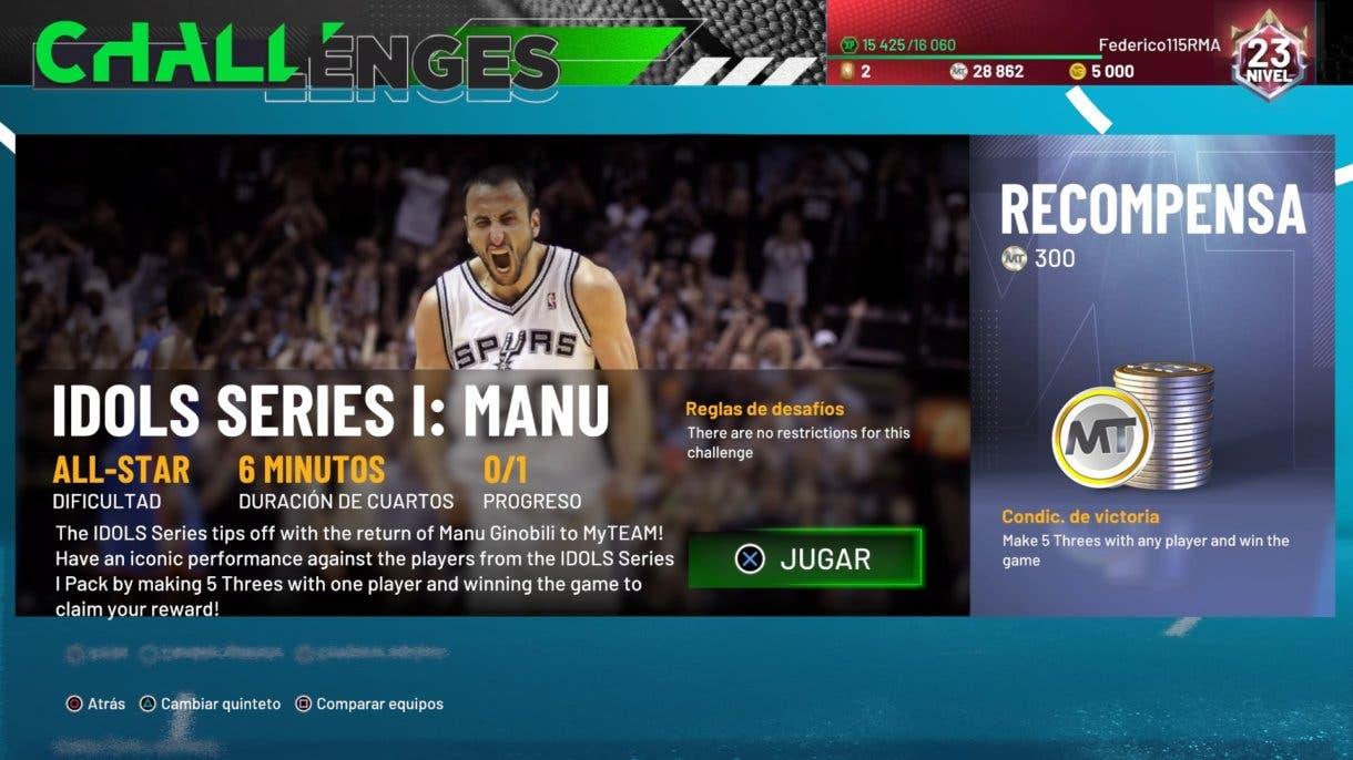 IDOLS Series I: Manu NBA 2k21 MyTeam