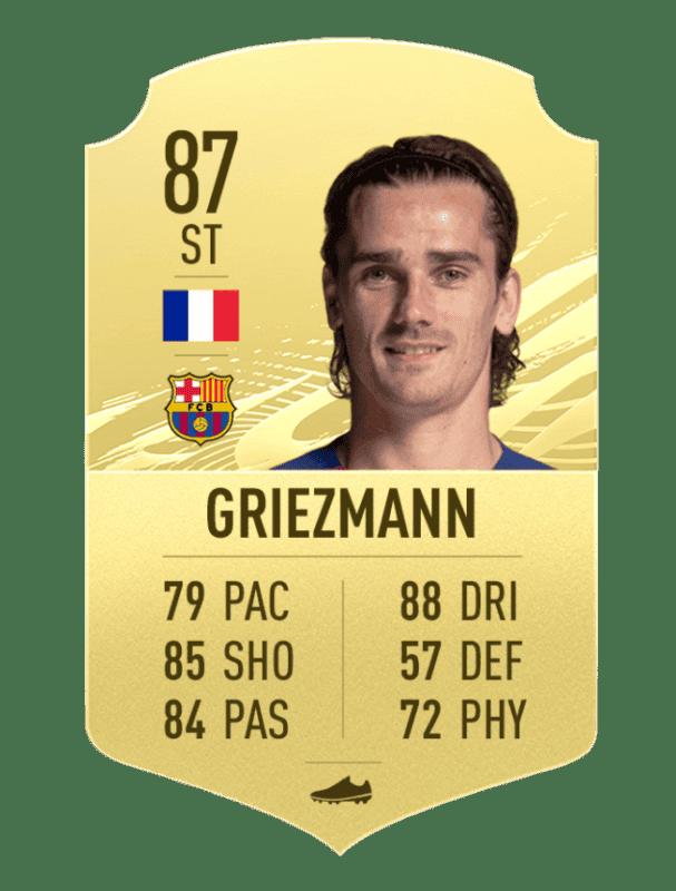 Carta de Griezmann en FIFA 21 Ultimate Team