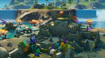 Imagen de Fortnite: Baila en el punto más alto y el más bajo del mapa