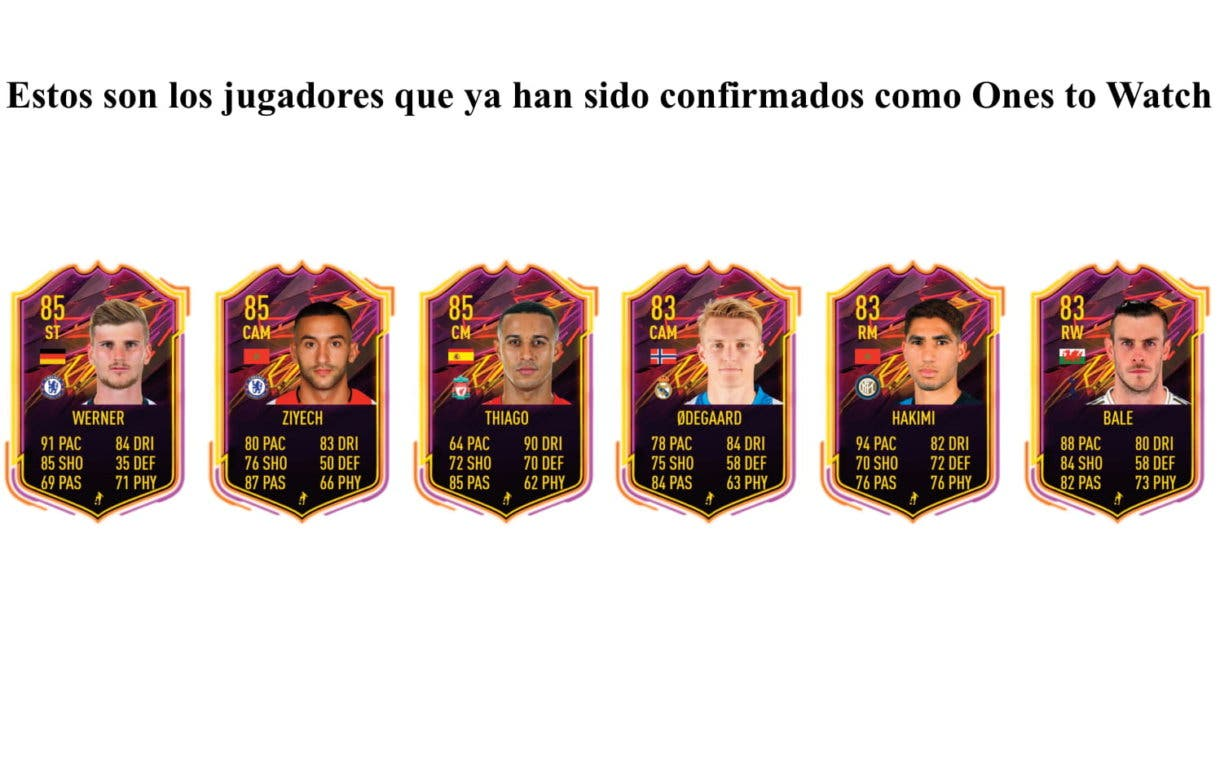 Ones to Watch confirmados FIFA 21 Ultimate Team