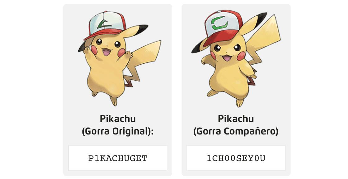 Pikachu con Gorra Original y Compañero